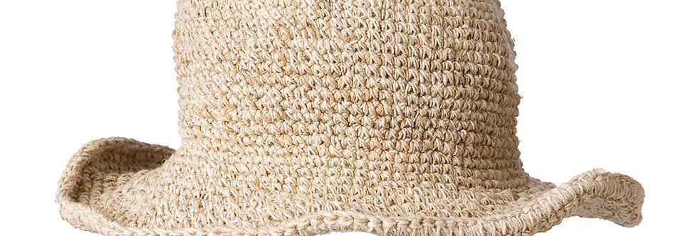Ark Fair Trade Hemp Cotton Wire Rim Hat - Natural