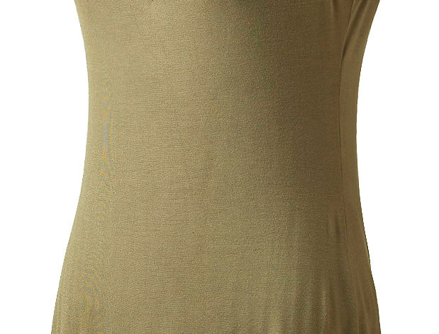 Ark Fair Trade jane tunic-dress-sleeveless-V-neck-knee-length-cut out deep V back joined with laces-olive