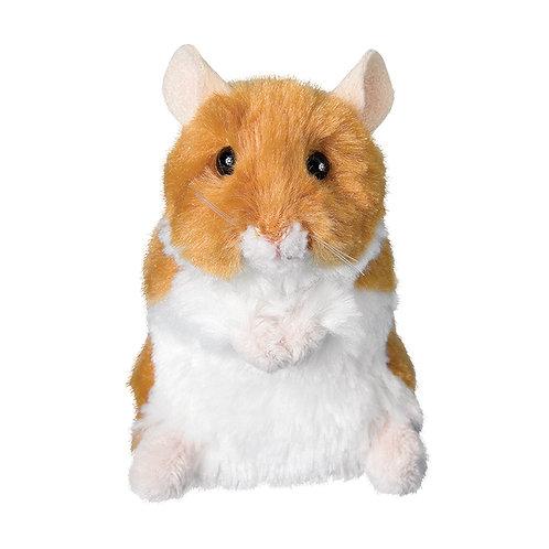 Douglas Toys Brushy Hamster stuffed animal, golden brown & white