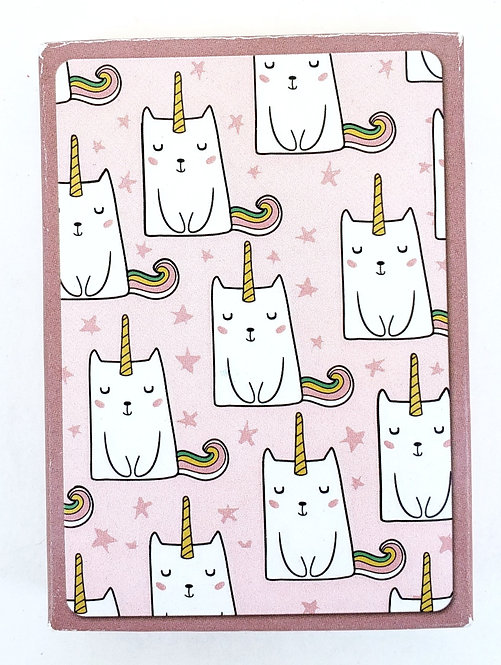Tree-Free Greetings caticorn playing cards front