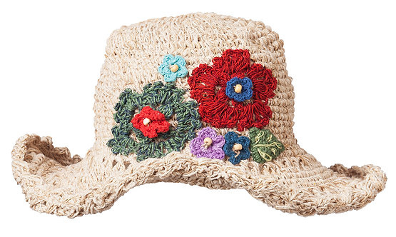 Hemp Cotton Wire Rim Flower Hat