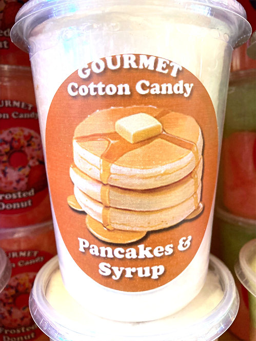 Pancakes & Syrup cotton candy tub