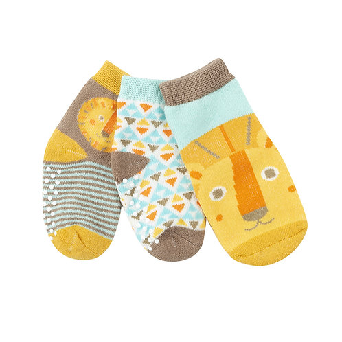 Set of 3 matching leo the lion themed socks