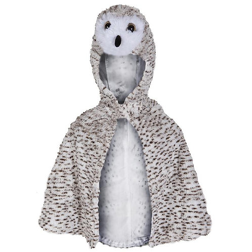 Great Pretenders Snowy Owl Baby Cape front view