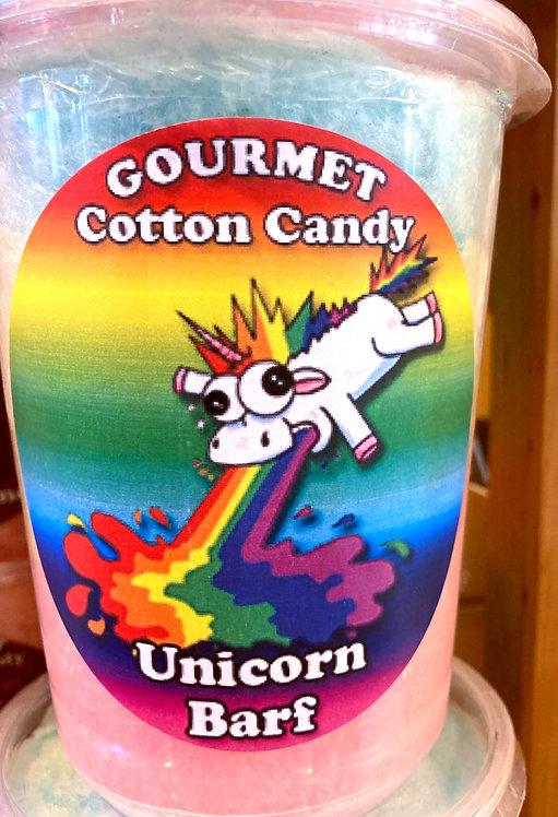 Tub of unicorn barf flavor cotton candy