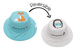 2 in 1 Fox / Hedgehog Reversible Baby & Kid Sun Hat