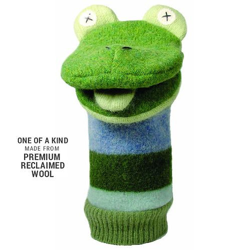 Woolly Frog Hand Puppet