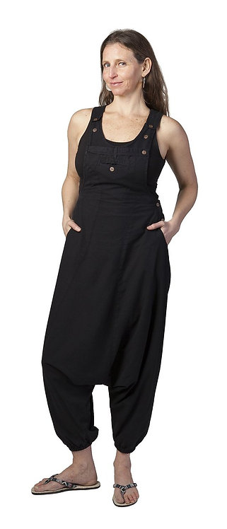 Ark Fair Trade Eclipse Overalls-solid black aladin style