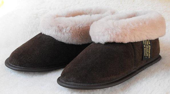 Unisex Sheepskin Slippers - Brown