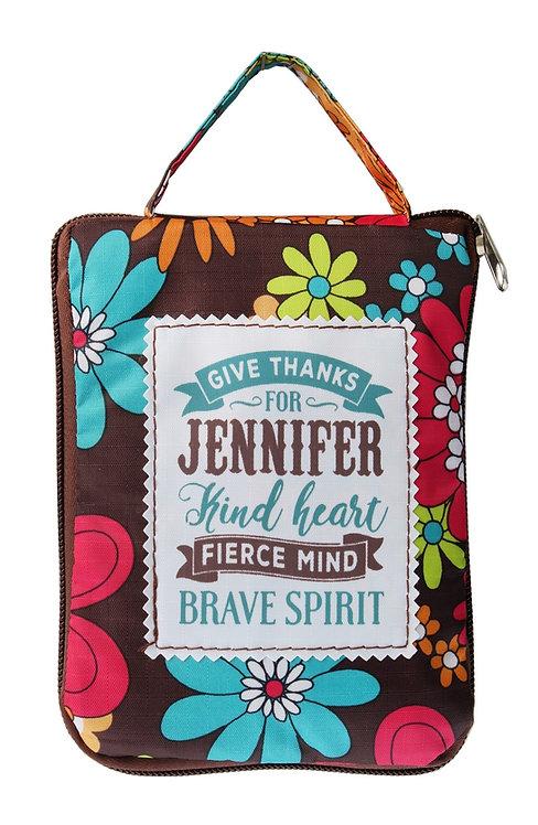 Fab Girl Reusable Tote Bag - Jennifer