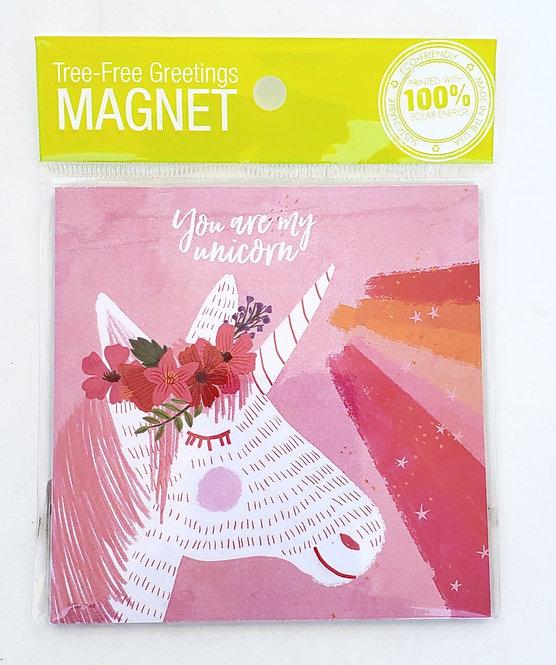 Tree-Free Greetings unicorn magnet