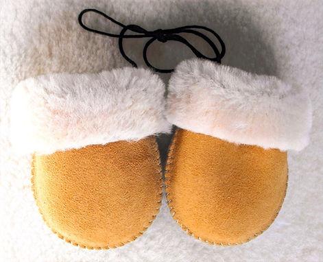 Baby Sheepskin Mitts - Tan