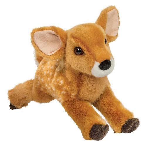 Douglas Toys Fern Fawn stuffed animal, golden brown & white