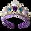 Purple & blue bejeweled tiara