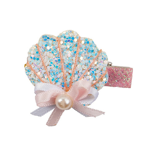 Sparkly shell-shaped hair clip
