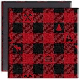 Tree-Free Greetings lumberjack plaid canvas magnet front & back