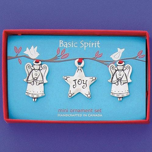Basic Spirit Pewter Joy Mini Ornaments