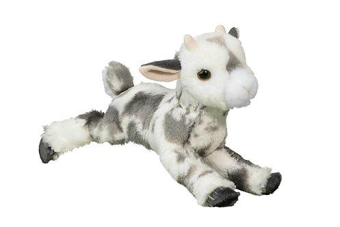 Douglas Toys Poppy Goat stuffed animal, gray & white