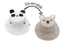 2 in 1 Panda / Koala Reversible Baby & Kid Sun Hat