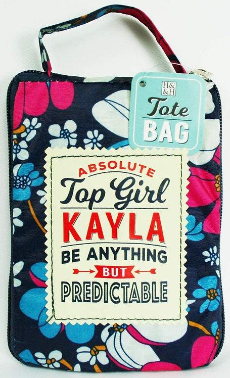 Fab Girl Reusable Tote Bag - Kayla