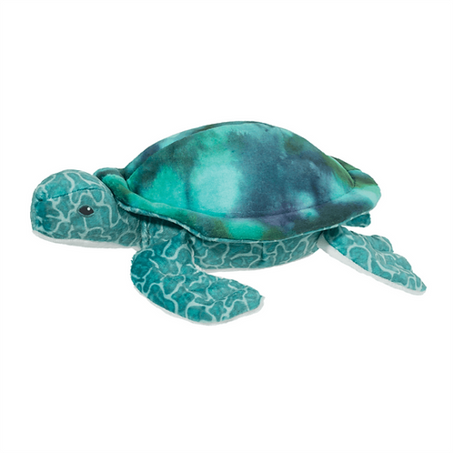 Turquoise & green turtle stuffed animal