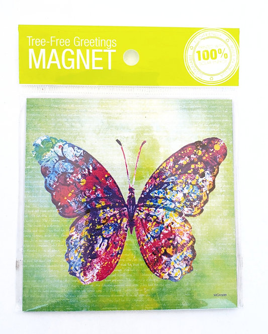 Tree-Free Greetings vibrant butterfly magnet