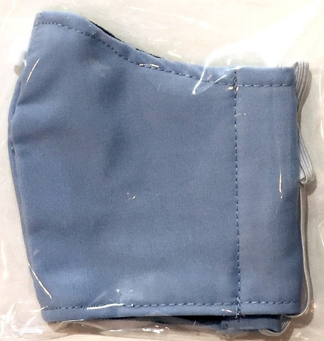 close up of kid's protective mask solid denim colour