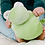 Baby with Papoum Papoum Cuddly Frog Toy