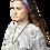 Female modeling tie-Dye Magic Loop Headband