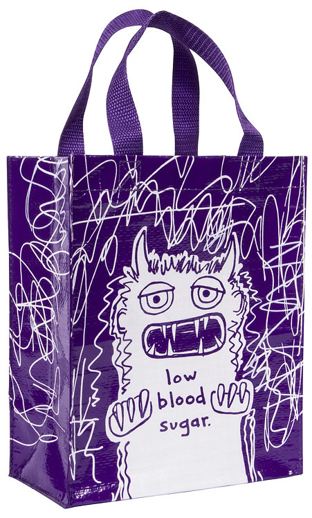 Blue Q Handy Tote - low blood sugar front view