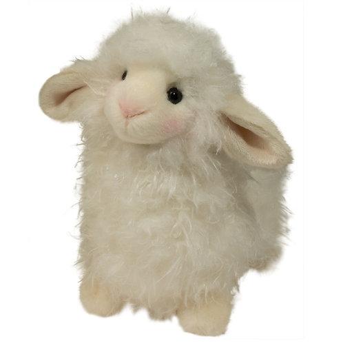 Douglas Toys Li'l Toula Lamb stuffed animal, white