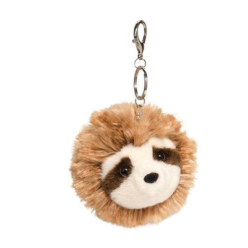 Douglas Toys Sloth Fur Fuzzle Pom Clip