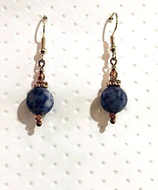Blue Spot Stone Gemstone Earrings