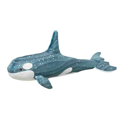 Gray & white whale stuffed toy