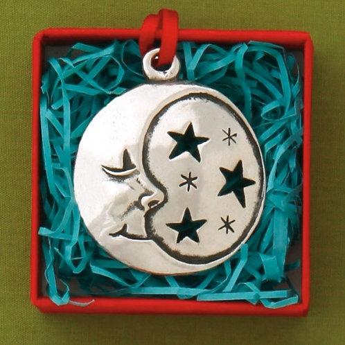 Basic Spirit Pewter Moon Jolly Ornament