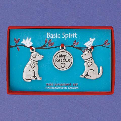 Basic Spirit Pewter Cat & Dog Mini Ornaments