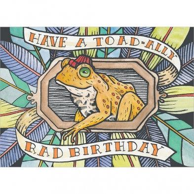 Toad-ally Rad Birthday Card