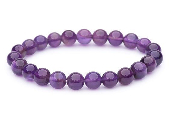 Amethyst Stone Bead Stretch Bracelets