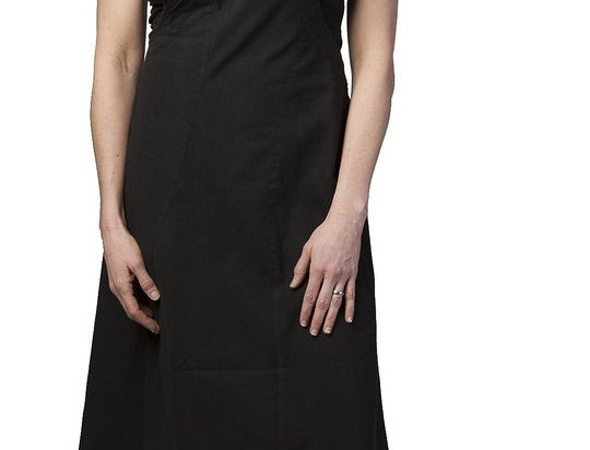 Ark Fair Trade Eclipse Dress black with overall style shoulder straps