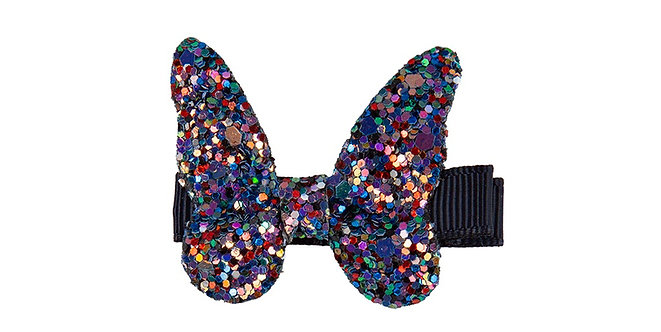 Dark purple & blue sparkly butterfly hair clip
