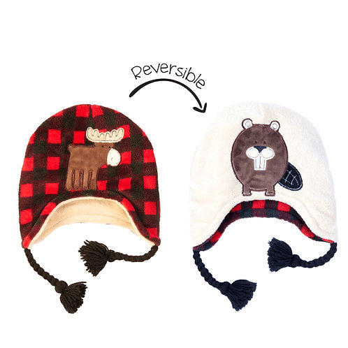Red Moose / Beaver Reversible Hat
