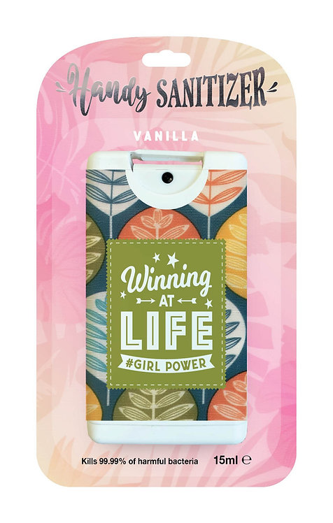 Pink rectangular hand sanitizer packet - Girl Power