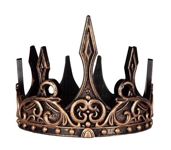 hard foam gold & black fancy medieval crown