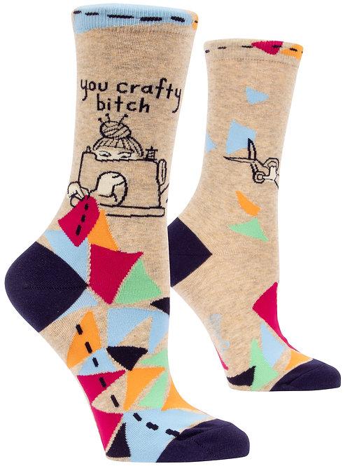 Blue Q Crafty Crew Socks side view