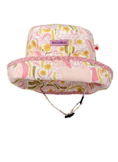 Snug as a Bug Unicorn Dreams Adjustable Sun Hat front
