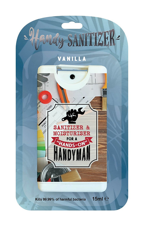 Denim Blue rectangular hand sanitizer packet - Handy Man