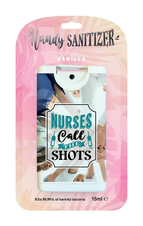Pink rectangular hand sanitizer packet - Nurses