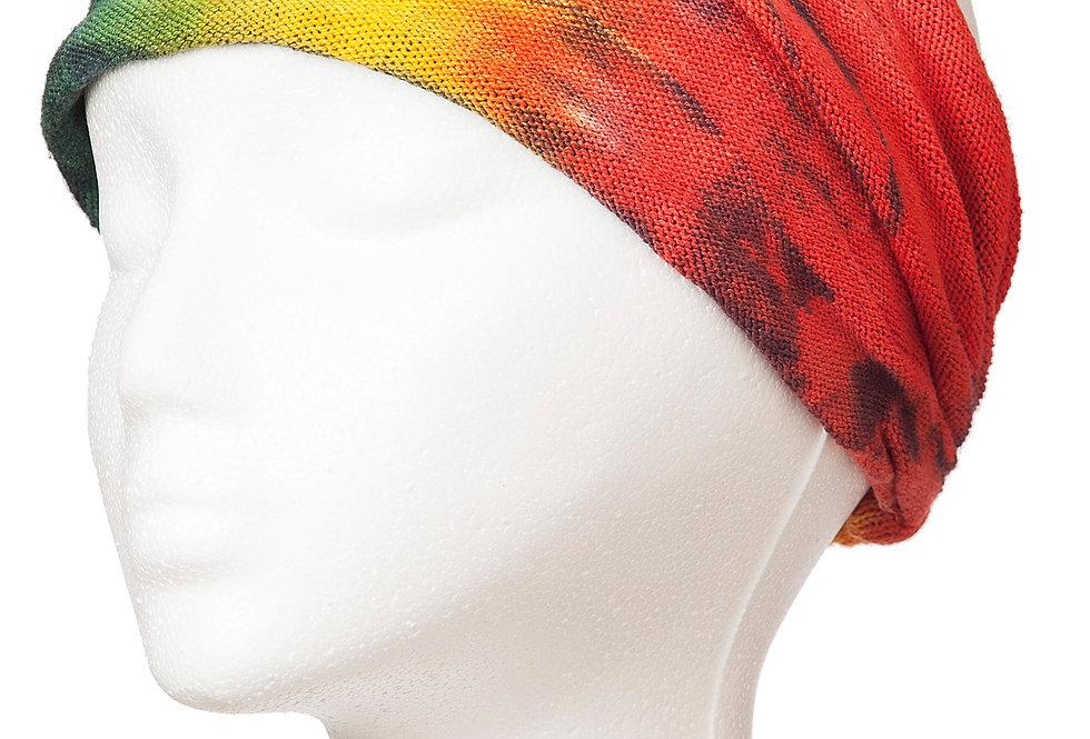 Ark Fair Trade Tie-Dye Magic Bandana on mannequin-rainbow colours