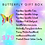 Pastel image of butterfly and list of butterfly gift box contents