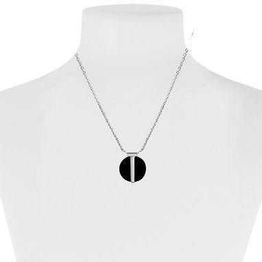 Black Resin Pendant Necklace